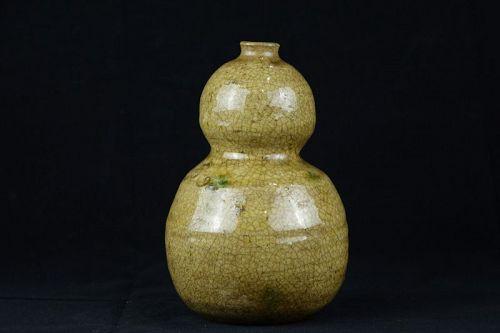 Edo Period (1603-1868) Ki-Seto Tokkuri Sake Bottle