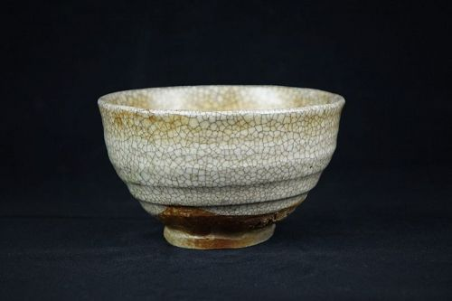 Antique Japanese Shino ware Chawan made by Kato Gorohachi (?-1900)