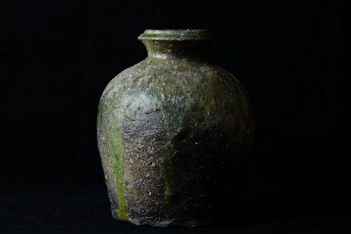 Tani Seiuemon (1913 - ?) Shigaraki Uzukumaru Flower Vase