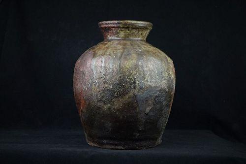 Massive Vintage Japanese Shigaraki Ware Tsukubai Jar made 70-80 years