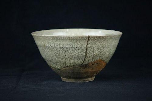 Rare Antique Japanese Ofukei ware Chawan with kintsugi repair