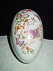 Butterfly Fantasy Porcelain Treasure Egg, Avon 1974