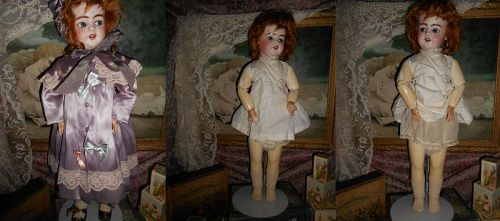 ** SOLD **  Simon & Halbig Flirty, Crying 1039 on rare Walker Body