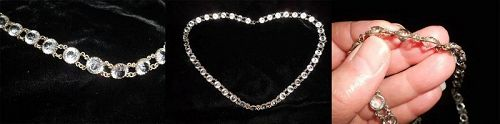 Antique French Crystal Paste Necklace