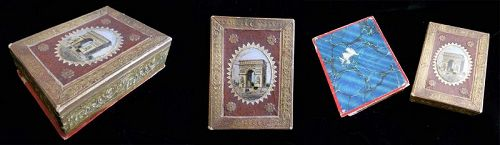 Antique French Grand Tour Eglomise Paper Box
