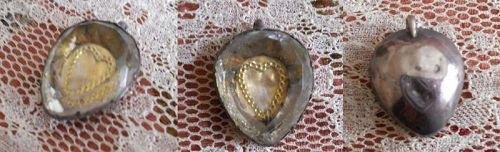 Antique Stuart Crystal Heart Pendant