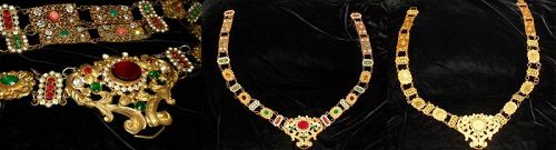 Antique French Medieval Style Paste 'Belt or Necklace