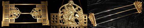 "Antique Expandable ""Goddess"" Ormolu Book Ends - Exquisite French Decor"