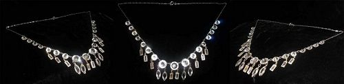 Art Deco Crystal Fringe Necklace