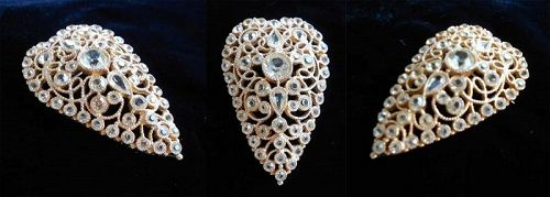 Vintage Filigree Heart Shaped Heart Pin