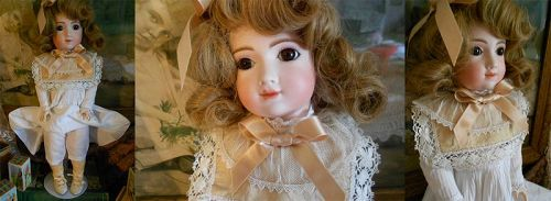 *** SOLD *** Vintage Artisan French Bisque Bebe Doll