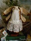 Silk Antique French Style Tulle Insert Doll Dress with Jacket