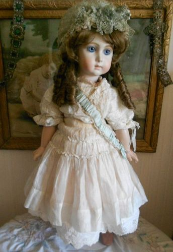 *** SALE PENDING ** Artist Jumeau Repo Triste Doll in Antique Silk