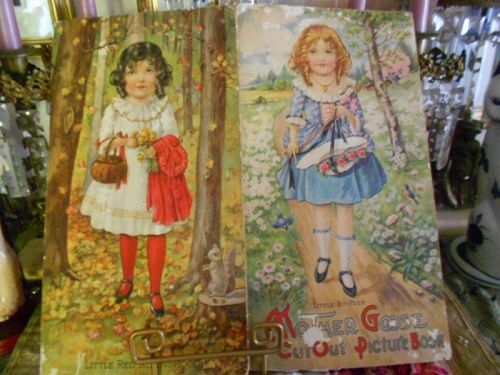 Antique Mother Goose Red Riding Hood, Bo Peep Paper Doll Book
