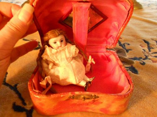 Antique Small French Box with repaired Mignonette