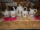 Antique German Lithograph Doll Tea Set