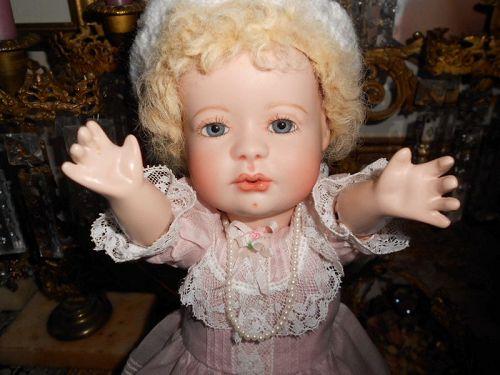 Vintage UFDC OOAK Artist Kissy Baby Bisque Doll