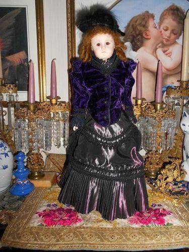 Artist Fashion Doll in Elaborate Purple Fashion Outfit