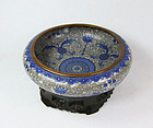 China 1890s late Qing Cloisonne Brushwasher