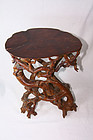 China Root Sculpture Carving  Stand  Modern