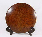"China Antique Burl  ""Toggle"" or button"