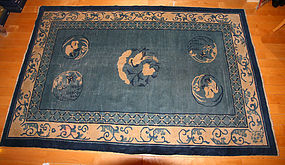 China  Old Carpet  Blue