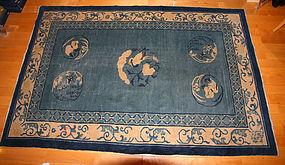 China  Old Carpet  Blue