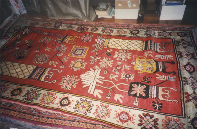 China  Xinjiang  Sinkiang Old carpet Qing
