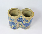 China porcelain brushpot scholar early 20th century