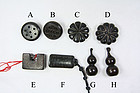 China old zitan toggles buttons