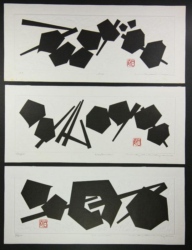 japan modern  japanese print Haku Maki months