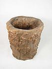 China Qing brushpot tree trunk or �tree trunk� like