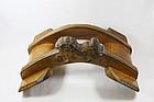 China Old saddle wood              qing