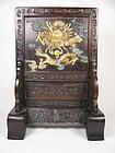china Old table screen dragon
