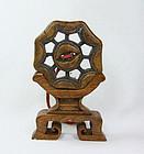 "china old  ""prayer wheel"" toggle too"