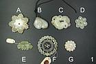 china Old jade pieces qing