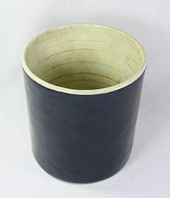 china antique qianlong blue brushpot porcelain