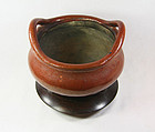 china republican pottery shiwan incense burner