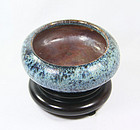 china Qing pottery shiwan brushwasher