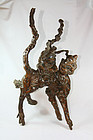 "china old root carving  ""big cat"""