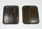china old wooden pair of trays