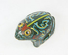 china cloisonne toad very late qing