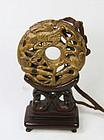 china qing toggle wheel  stand  dragons