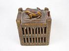 china old cricket cage boxwood wood