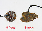 china  old toggles  boxwood  8 9 frogs