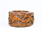china wood archer ring  19th c