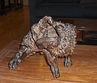china old tree root carving toad Qing