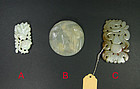 china Jade pieces toggles  Old