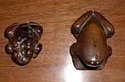 china frog toggles mid qing boxwood