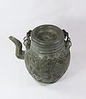 china old yixng teapot black clay pewter